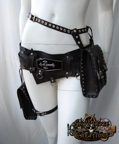 "skypiratecreations: "" Vampire Multifunction Pocket Utility Leather Belt """