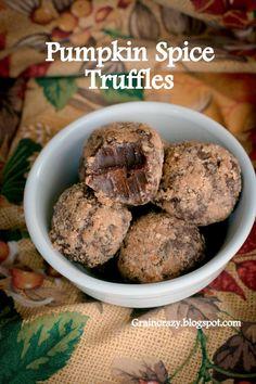 Grain Crazy: Pumpkin Spice Truffles (no added sugar)