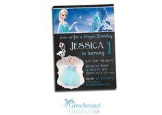 Frozen birthday invitation Disney's Frozen by GreyhoundGraphics, $9.99