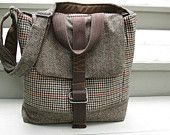 I love these bags. They're made from recycled suit coats!