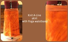 DIY knit A-line skirt with yoga-style waistband.  I want to make a million of these for summer :-)