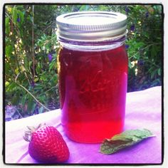 Strawberry mint simple syrup recipe