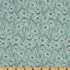 Cushion & Dust Poppies Blue by Sarah Watts for Blend Fabrics $7.63/y