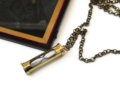 Steampunk Hourglass Necklace TIME Timer Mens by AlteredEras