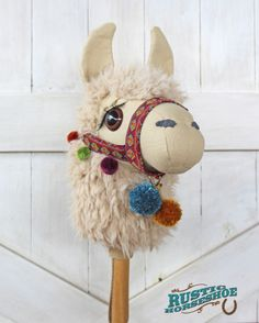 Llama Ride-On Toy Stick Horse Hobby Horse in Two Sizes | YouCanMakeThis.com
