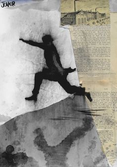 """Saatchi Online Artist: Loui Jover; Paper, Assemblage / Collage """"one moment"""""""