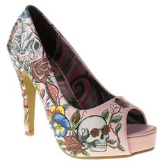When you imagine a baby pink peep-toe, you probably wouldn't picture this Iron Fist. This feminine silhouette gets a Pretty Fierce update, with a cool printed design featuring skulls, roses and mushrooms, sat on a 12cm heel. Totally fabulous.