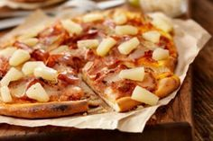 Quickie Hawaiian Pizza | The Dr. Oz Show--use a whole wheat tortilla instead of pizza crust...brilliant!