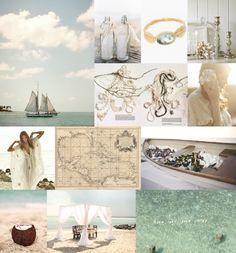 bohemian island chic wedding ideas, wedding inspiration boards