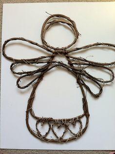 Grapevine angel wreath by BlingyFox on Etsy, $18.00