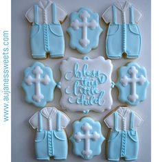 Bless this child Baby Cookies, Sugar Cookies, Ballerina Cookies, Order Cookies, Christening Outfit, Baby Rattle, Cookie Decorating, Baby Shower, Shapes