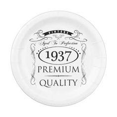 1937 Premium Quality Paper Plate