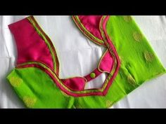 Blouse Back Neck Designs Cutting and Stitching – Tutorial Awesome Blouse Back Neck Designs Cutting and Stitching Blouse Back Neck … Patch Work Blouse Designs, Simple Blouse Designs, Saree Blouse Neck Designs, Stylish Blouse Design, Dress Neck Designs, Sleeve Designs, Sari Blouse, Designer Blouse Patterns, Designer Dresses