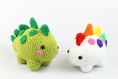 Dinosaur Amigurumi - Free Crochet Pattern - StringyDingDing - Thread and Thimbles - Free Dinosaur Amigurumi Crochet Pattern. Crochet yourself a cute dinosaur with this free amigurumi - Crochet Hedgehog, Crochet Octopus, Crochet Penguin, Crochet Dinosaur Pattern Free, Crochet Patterns Amigurumi, Free Pattern, Amigurumi Free, Crochet Amigurumi, Easy Crochet