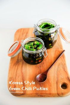 How to make Korean style green chilli pickles. Discover the easy and delicious way to use green chillies from here. This will be your new favourite pickles!