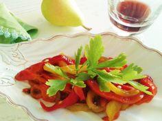 Filetti di peperoni arrostiti all\'olio, aglio & prezzemolo