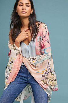 This is a beautiful Kimono!!! Anthropologie Jordin Floral Kimono #kimonos #springoutfits #ad