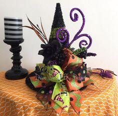 Centro de mesa arreglo Floral del sombrero de la bruja