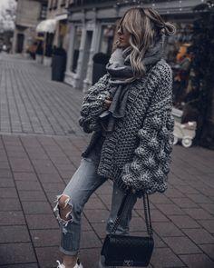 Jan 2020 - Gray kimono cardigan Bubble sweater Gray chunky cardigan Bobble sweater Gray bomber jacket crochet c Winter Cardigan Outfit, Cardigan Outfits, Kimono Cardigan, Kimono Jacket, Oversized Cardigan Outfit, Sweater Coats, Grey Sweater, Sweaters, Mode Outfits