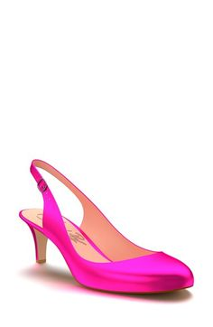Shoes of Prey Metallic Leather Slingback Pump (Women) available at #Nordstrom