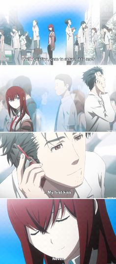 Steins;Gate - Kurisu and Okabe. This anime is the epitome of perfection <3