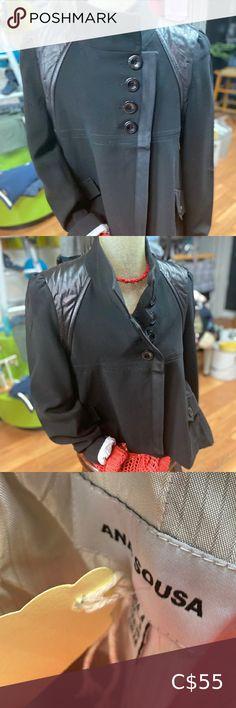 Beautifully cut!!!Ana Sousa Designer Blazer Designer Ana Sousa Blazer Mix Fabric Well lined and trimming Carry's good weight Extremely well made!!!! Ana Sousa Jackets & Coats Blazers & Suit Jackets Beige Blazer, Denim Blazer, Cropped Blazer, Casual Blazer, Pink Leather Skirt, Armani Blazer, Sleeveless Jacket, Jeans Material, Blazer Fashion