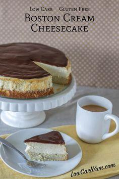 Gluten free low carb Boston cream cheesecake recipe