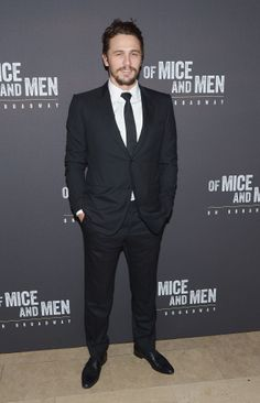James Fanco at the Broadway opening night of Of Mice and Men.