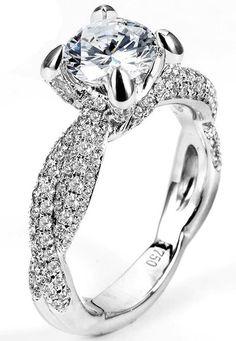 2.31 ctw EGL 18k White Gold F VS2 Round Brilliant Diamond Engagement Ring