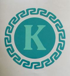 Circle Aztec Monogram Turquoise and Mint Yeti Vinyl Sticker Car Decal Personalize Custom by SOUTHERNROOTSCOMP on Etsy