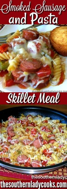 Smoked Sausage Pasta Skillet is great comfort food and a quick, easy meal. Just add some cornbread muffins and a salad. We love easy skillet meals during the week that you can just throw together …