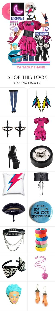 """""""In another bed, on another floor, in the back of a car, in the cellar like a church with the door ajar."""" by litany ❤ liked on Polyvore featuring Pamela Mann, Betsey Johnson, Pleaser, Jean-Paul Gaultier, DANNIJO, Lola Rose, Margaux Lange and CO"""