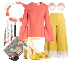 3 Ways To Wear The Coral Roksanda Truffaut Bell Sleeve Top