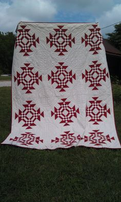 Beautiful red and white quilt!!