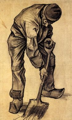 Vincent van Gogh: The Drawings (Digger) 1882 Vincent Van Gogh, Van Gogh Drawings, Van Gogh Paintings, Desenhos Van Gogh, Van Gogh Arte, Theo Van Gogh, Van Gogh Pinturas, Art Du Monde, Art Van