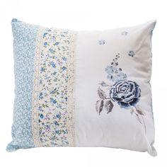 Vintage Ruffle Cushion - Blue from Litecraft
