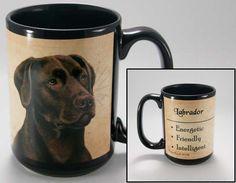 Faithful Friends Chocolate Labrador Retriever Dog Breed Coffee Mug