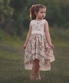 Look what I found on #zulily! Ivory Floral Delphine Dress - Infant, Toddler & Girls #zulilyfinds