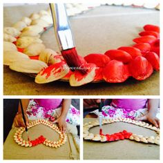 Pistachio shell crafts - wall hanging