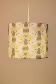 Printed bee lamp shade