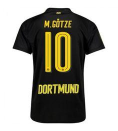 Billiga Dortmund Mario Gotze 10 Bortatröja 17-18 Kortärmad Mario, Sports, Tops, Fashion, Borussia Dortmund, Hs Sports, Moda, Fashion Styles, Sport