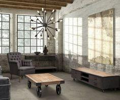 industrial design möbel couchtisch aus holz