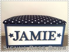 Girls/Boys wooden personalised toy box/storage box.
