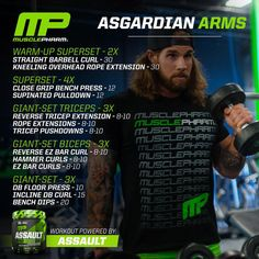 Arms Workout Plan: A Primer – Lasting Training dot Com Biceps And Triceps, Biceps Workout, Gym Workout Tips, Workout Challenge, Tri Workout, Workout Exercises, Muscle Pharm Arms, Muscle Fitness, Fitness Tips