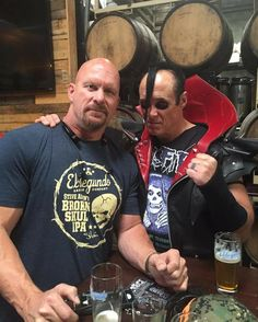 Only & Steve Austin Stone Cold Austin, Stone Cold Steve, Austin Wwe, Steve Austin, Texas Rattlesnake, Jerry Only, Danzig Misfits, Vince Mcmahon, Wrestling Superstars