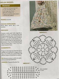 Sidney Artesanato: Bolsa de crochet com receita
