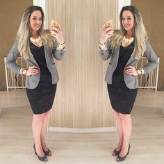 Sabe aquele pretinho básico que tem que ter? 🏴Pois então, esse é o meu! 🤗 Joguei um blazer da @zara um maxi colar @manoa_acessorios um peep toe @jorgebischoff e fui viver essa terça-feira linda!!! Ah, e o vestido é da @corioficial que comprei super-mega-ultra-super remarcado no outlet @ifashionoutletnh na loja @offashion 💋