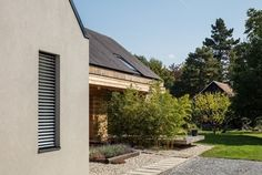 Wooden Cladding, House Built, Atrium, How To Run Longer, Stables, Entrance, Layout, Mansions, House Styles