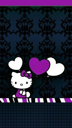 Hello Kitty Bed, Hello Kitty My Melody, Hello Kitty Themes, Hello Kitty Pictures, Unicornios Wallpaper, Butterfly Wallpaper, Cellphone Wallpaper, Wallpaper Iphone Disney, Black Wallpaper