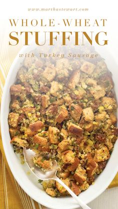 Get all the things you love about sausage stuffing (savory meat, fresh herbs, and lots of bread) without feeling stuffed yourself.